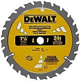 DEWALT DW3578B10 Framing Blade 7-1/4' Dia 24 Tpi 5/8' Round Thin Kerf Bulk, 10 Pack