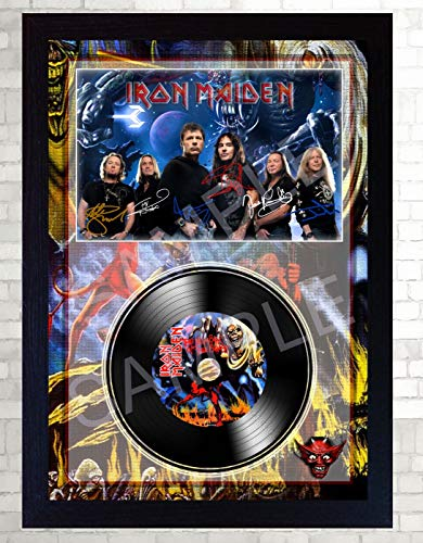 SGH SERVICES Iron Maiden The Number of The Beast Rock Music signiert, gerahmtes Foto