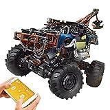 Technic 4X4 All Terrain Tow Truck Building Set, 2.4Ghz RC Off-Road Truck con motor, 1507 piezas Kit de construcción de vehículos de juguete compatible con Lego Technic dynamic,52 * 21 * 34cm