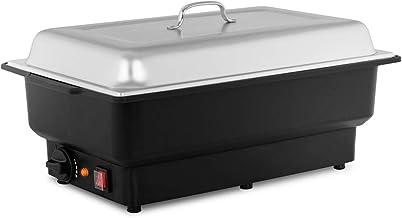 Royal Catering Chauffe-plat Chafing Dish RCCD-1/1-100-KS-E (900W, incl. récipient GN 1/1, profondeur du récipient 100 mm, ...