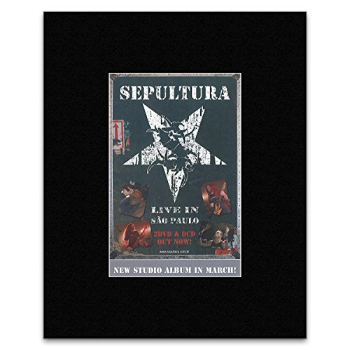 Stick It On Your Wall Sepultura Mini-Poster Live In Sao Paulo, 13,5 x 10 cm