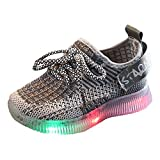 2019 New Toddler LED Light Sneakers Nouveau-Né Bébés Filles Baskets Chaussures pour Bébés Garçons Filles Doux Lumineux en Plein Air Sport pour 1-6 Ans