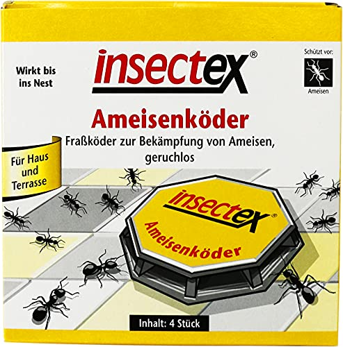 4 cajas de cebo para hormigas, para un control fiable de las hormigas