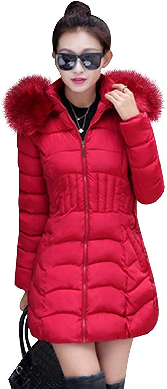 Aiyou Women's Down Coats Parka  Warm Winter Jacket Outerwear Overcoats