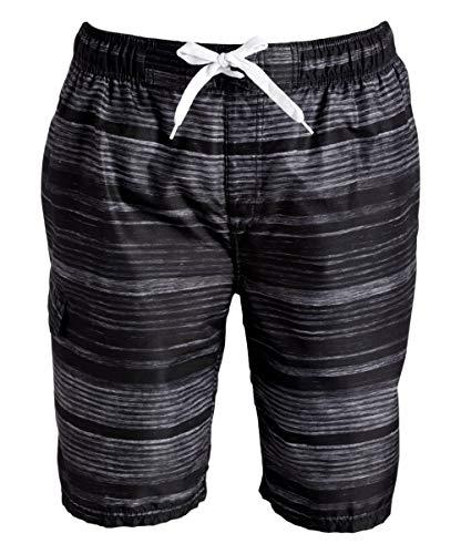 Kanu Surf Men's Legacy Swim Trunks (Regular & Extended Sizes), Jetstream Black, Medium
