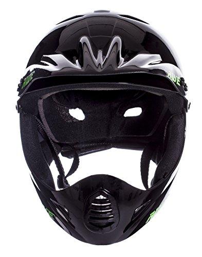 AWE® BMX Full Face Helm schwarz, Größe M 54–58 cm - 5