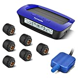 Tymate Tire Pressure Monitoring System for RV Trailer - Solar Charge, 5 Alarm Modes, Auto Backlight & Sleep & Awake Mode, Tire Position Exchange, with 6 External Tmps Sensor (0-87 psi) and A Repeater