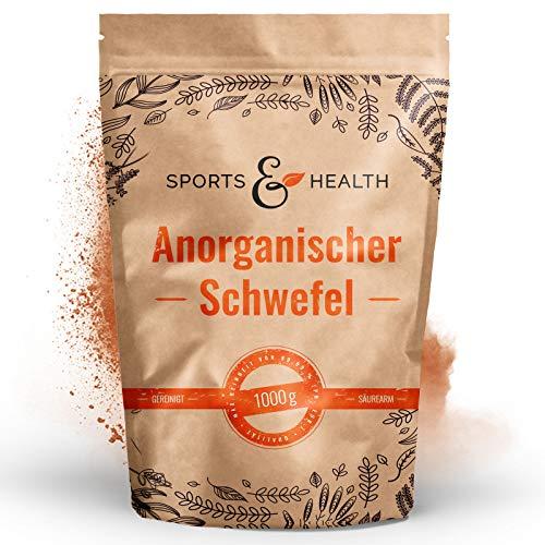Schwefelpulver Anorganisch - 1000g gemahlener Schwefel - 99,9% Reinheit - Eigene Abfüllung - Anorganischer Schwefel