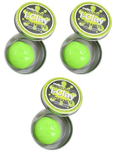 Trendyshop365 Original i-Clay intelligente Superknete im 3er Set (nachtleuchtend grün)
