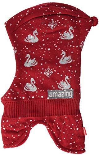 maximo Baby-Mädchen 83571-358300, Schlupfmütze Schwan Mütze, Rot (Richelieu/Blassrosa 252), 49