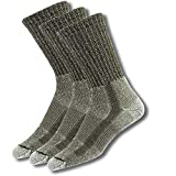 Thorlos LTH Max Cushion Hiking Crew Socks, Sage (3 Pair Pack), Large