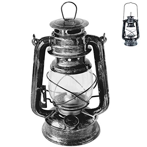 rnuie Oil Lamps for Indoor and Outdoor Use,Rustic Kerosene Vintage Burning Lantern Lamp,Decorative Hanging Hurricane Lamp