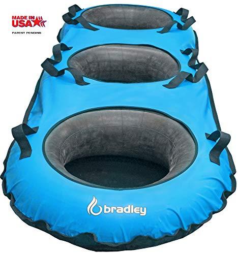 Bradley Triple River Raft Tube | Heavy Duty Cover | Truck Tire Inner Tubes Blue