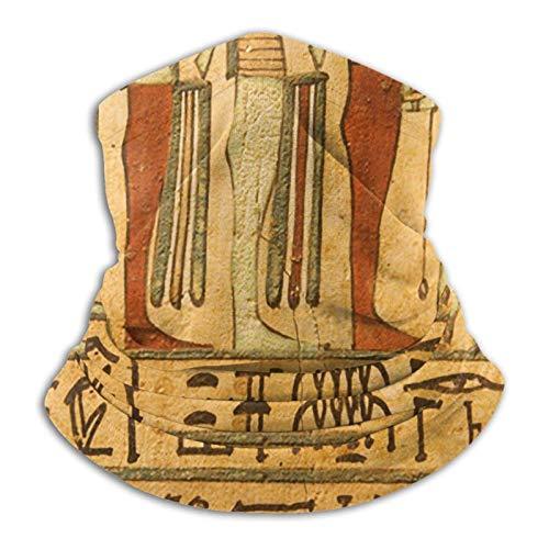 Ancient Egipcio Dioses Jeroglíficos pintados en piedra Unisex calentador resistente al viento protección UV cuello polaina bufanda bandana cara Ma-sk