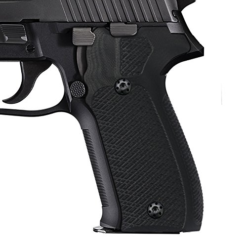 Cool Hand G10 Grips Compatible with Sig Sauer P226, Tactical Slant Texture, Black G10, 226-C-1