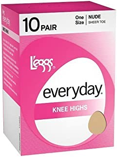 L'eggs Women`s Set of 3 L`eggs Everyday Knee Highs ST - Best-Seller!
