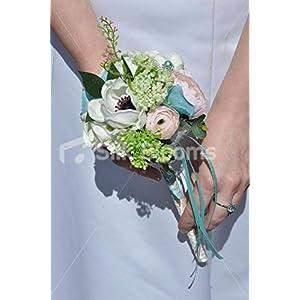 White Anemone, Pink Rose & Ranunculus Flowergirls Wedding Wand