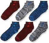 adidas Calcetines unisex Superlite de corte bajo (paquete de 6), Unisex niños, Calcetines, 977195, Active Maroon - Tinte espacial negro/rojo activo negro - Whi, Large, (Shoe Size 3Y-9)