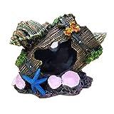 Decoración del acuario Moda Ornamento creativo Resina Conch Barrel de vino Paisajismo Tanque de pescado Aquaration Decoración Pescado camarón ocultando acuario ( Color : Painted , Size : 11x9x10cm )