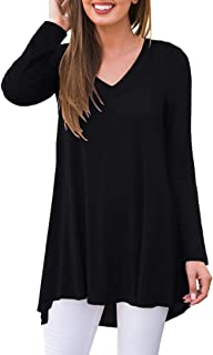 Women's Fall Long Sleeve V-Neck T-Shirt Tunic Tops Blouse...