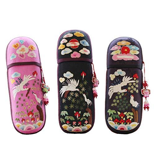 韓国手刺繍ペンケース筆入れ・鶴■pencase-12-s【ギフト】【お土産】
