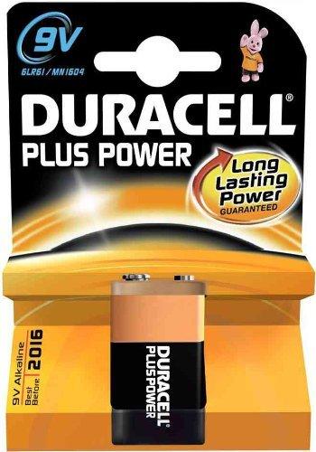 10 x Duracell Plus/ 9V/ 6LR61/ MN1604/ Alkaline/ E-Block /9 V Block