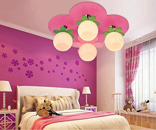 Lily's-uk Love LED enfants plafonnier princesse fille chambre lumières chambre créative mignonne chaud dessin animé éclairage rose
