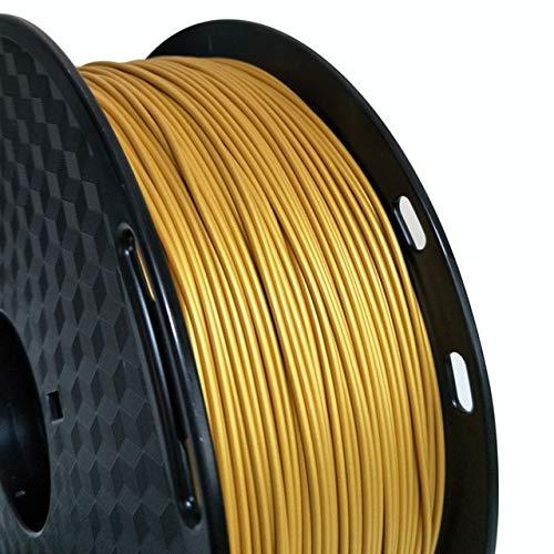 Auartmetion 1pc 3D Printer Filament Metal PLA 1.75mm 0.5kg Spool Gold Silver Copper Bronze Frosted Bronze Metallic PLA Printing Materials 500g (Color : Gold)