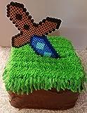 Sword cake topper - 1 piece mining cake topper
