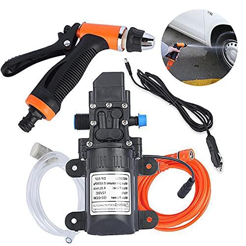 Bomba de agua portátil para lavadora de alta presión, 12 V, kit de lavado de rociador de limpieza para coche, caravana o barco (juego)