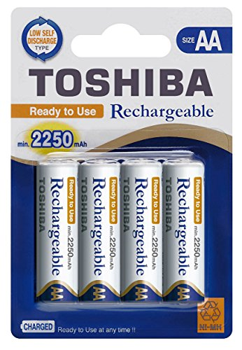 TOSHIBA NI-MH AAA/AA Akku Batterien min. 750, 1950, 2250 mAh Ready-to-Use NI-MH, Ready-to-Use NI-MH:4er Blister AA min. 2.250mAh