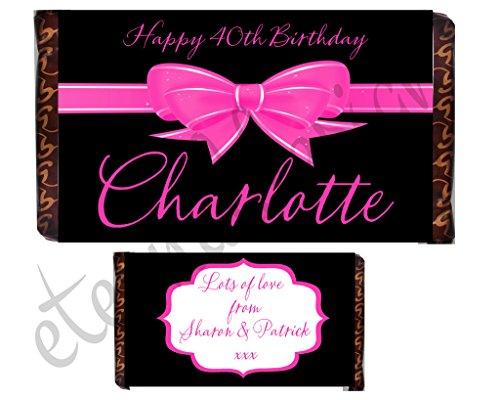 Eternal Design personalizzato compleanno cioccolato Bar Wrapper bdcb 14