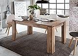 GXK Esstisch Esszimmer Tisch Nussbaum Satin Küchentisch ausziehbar 160-200 cm Holz