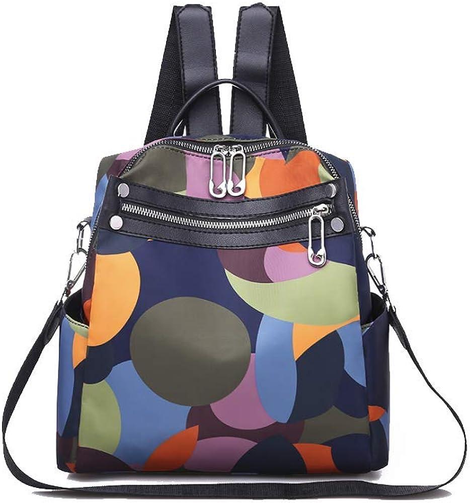 OMGA Fashion Women multicolor Backpack Purse Oxford Waterproof Casual Shoulder Bag Leisure Backpack