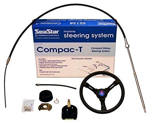 Teleflex stuur Compac T Compl met stuurwiel. Stuurstoel 12 ft 366 cm tot 55 pk.