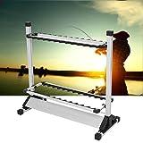 Soporte para caña Gototop, soporte para 24cañas de pesca de Fischer Sport, aleación de titanio, 72x 32,7x 72,1cm