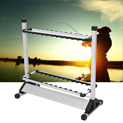 GOTOTOP Angelrutenhalter, Holder von 24 Titanlegierung Angelruten für Fischer Sport Angeln,72 x 32,7 x 72,1 cm