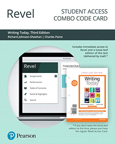 Revel for Writing Today -- Combo Access card (3rd Edition)