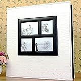 WQF Álbum de Fotos de Gran tamaño, 600 Hojas de 15x10 cm, Libro de Fotos, álbum de Fotos de Boda, álbumes de Cuero PU, Cubierta, álbum de Recortes, 8