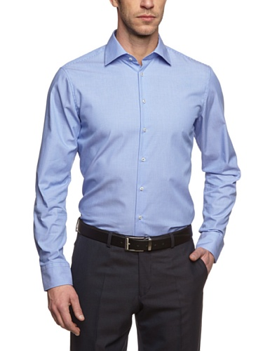Seidensticker Seidensticker Herren Business Hemd, Blau (blau 15), 37 cm