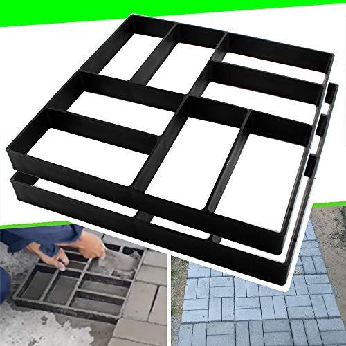 2 Pack 15.7'x15.7'x1.57' Walk Path Maker Reused Concrete Molds Pathmate Stone Molding Stepping Stone Paver Walk Way DIY Path Paving Garden Yard Patio Mold (8-Grid)…