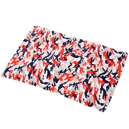 TOPINCN huisdier warme zachte mat schattig patroon ademende deken bed kussen voor kat hond baby winter
