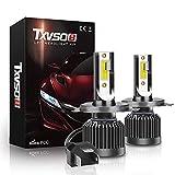 OOOUSE H4-H/L LED Ampoules, 20000LM Luminosité, 6000K Blanc Froid Ampoules...