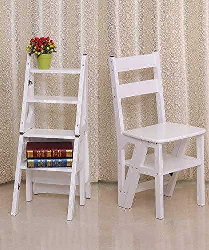 PILJ Trittleiter Massivholz Schritt Hocker Folding Haushalts Stair Chair Freizeit Bar Stuhl Indoor Multi-Funktions-Dining Chair + (Farbe, 1#), 2# (Color : 5#)