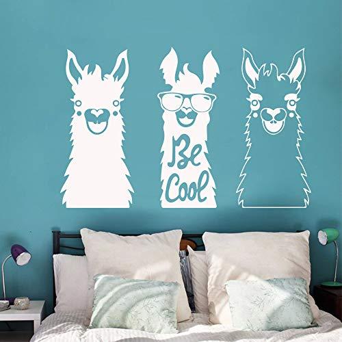 Etiqueta engomada de la pared de cabra de dibujos animados lindo vinilo removible cartel de arte mural pegatina decoración familiar decoración de la habitación de los niños etiqueta de la pared57X88CM