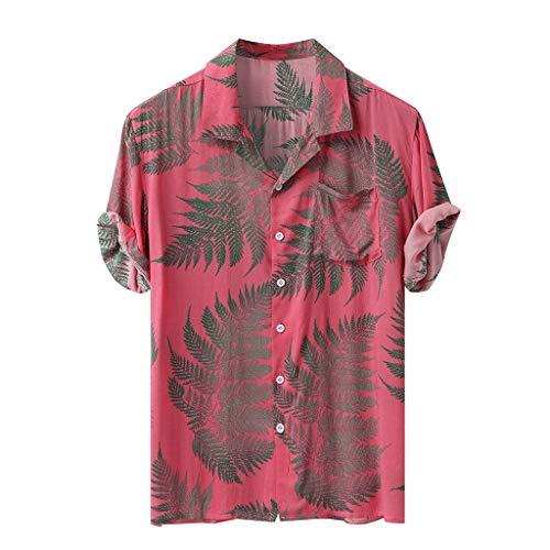 Soolike Camisas Manga Corta Hombre Estampadas, Camisas Manga Corta Hombre Hawaiana Básico, Camisa Casual con Bolsillo En El Pecho, Regular Fit.