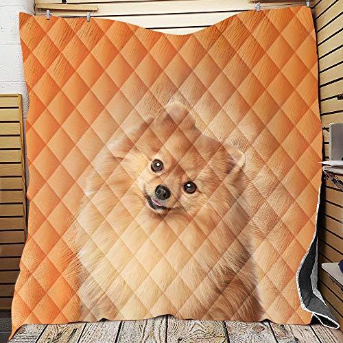 YEARGER Qualitäts Leichtsteppbett Für Mädchen Und Jungen, Mikrofaser Soft Komfort Hund Muster Digitaldruck Kinderzimmer Bettüberwürfe Tagesdecke Antiallergisch Steppdecke (150x200 cm,#B)