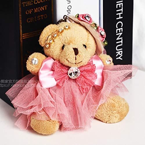 N / A 10cm reizendes Paar Teddybär mit Stoff Plüschtier Puppen Kuscheltier Schlüsselbund Kinder Baby Kinder Mädchen Geburtstag 10CM