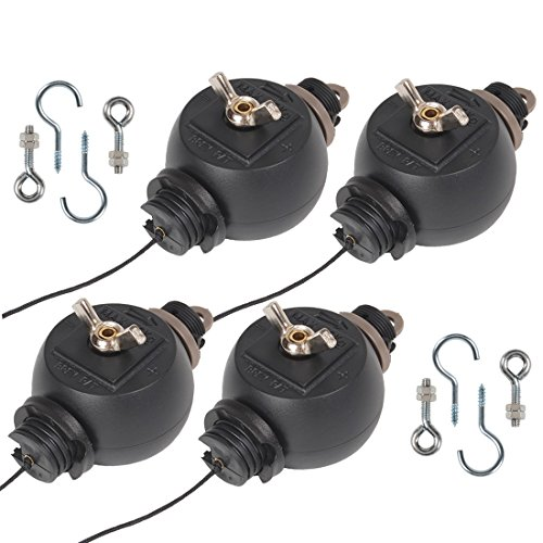 6 Pairs Yoyo Easy Roller Grow Light Reflector Adjustable Hanger Hydroponics 12x