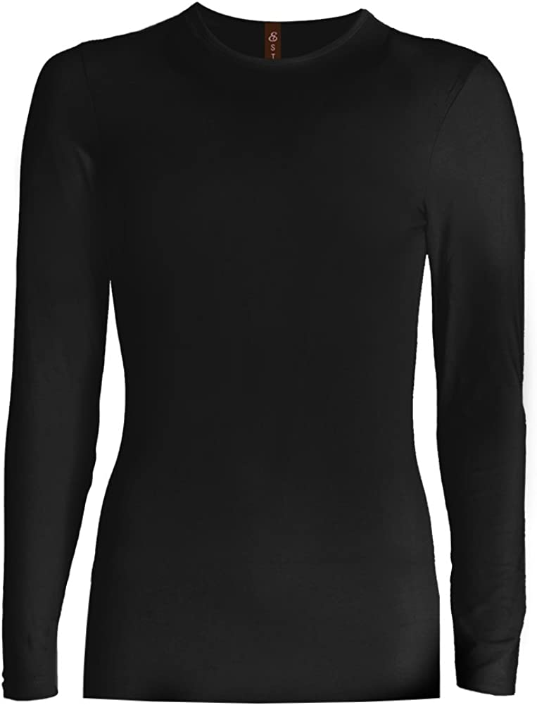 ESTEEZ Girls Layering Snug Tshirt Long Sleeve Basic Soft Cotton Casual